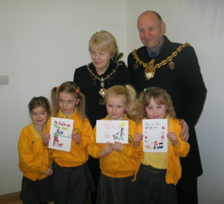 Borras School Prize Winners with the Mayor and Mayoress